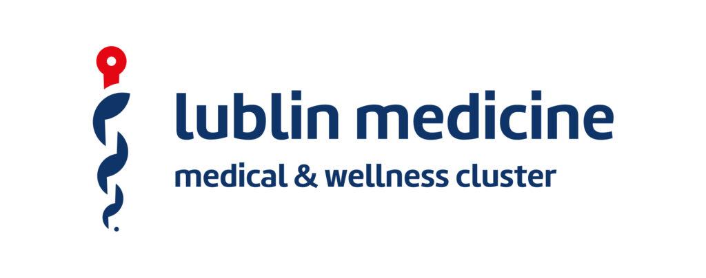 Logotyp Klastra Usług Medycznych EN
